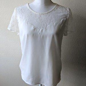 White Lace Short Lace Blouse